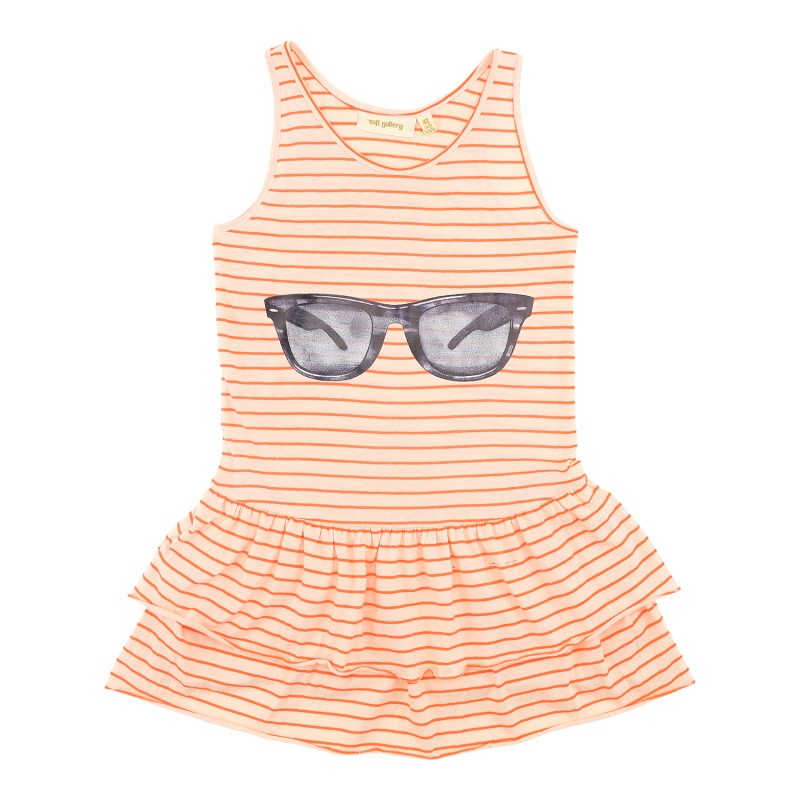 Soft Gallery Zoe Dress Neon Stripe, Sunnies