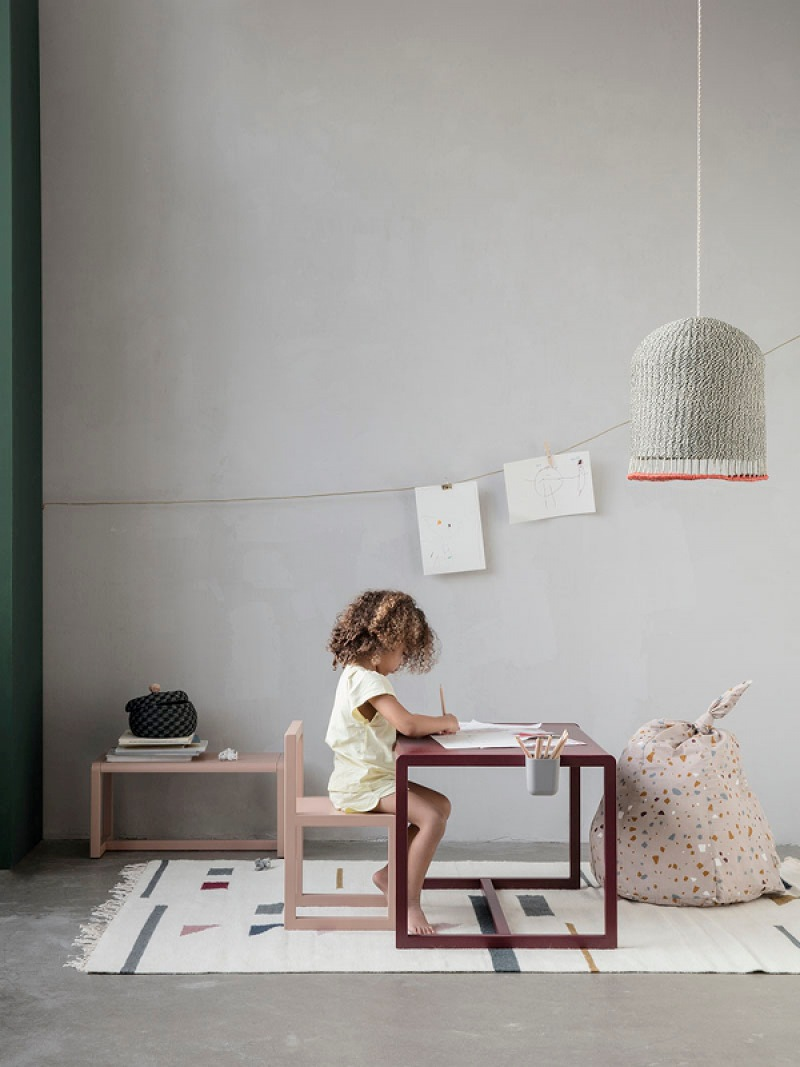 fermLIVING Little Architect Bench - Rose