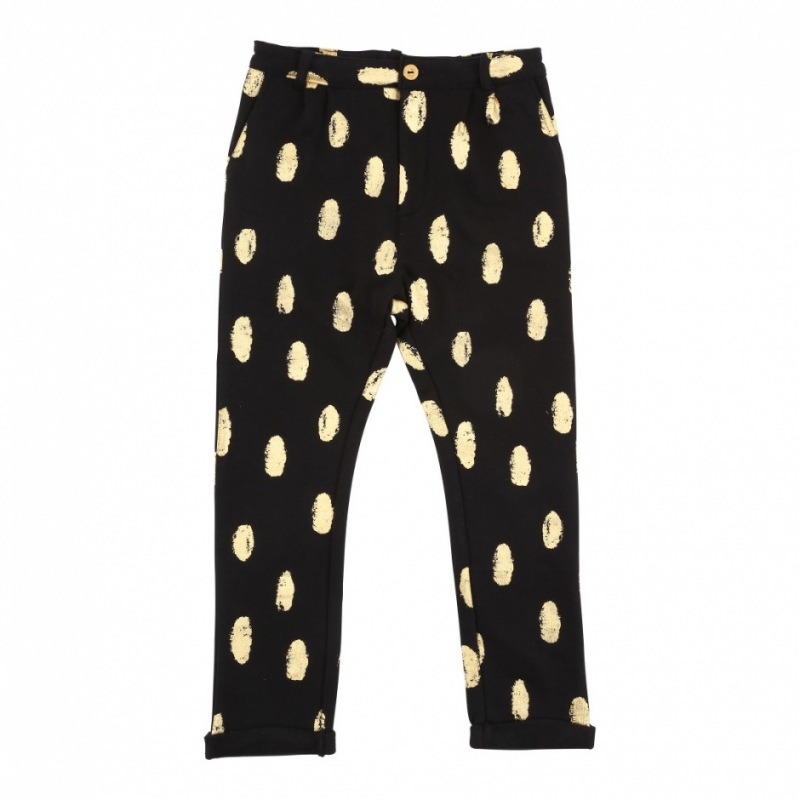 Soft Gallery Zeus Pants, AOP Goldie / Jet Black