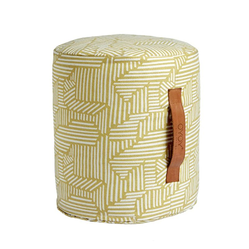 OYOY Mini paddy pouf - bamboo