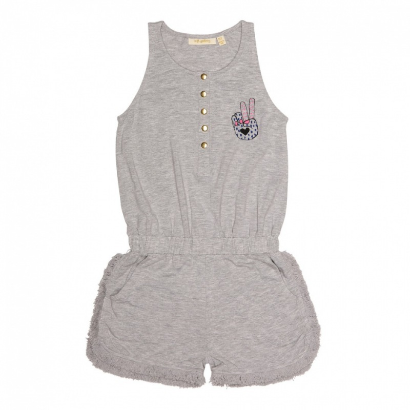 Soft Gallery Ayla Jumpsuit, Grey Melange, Peacesign