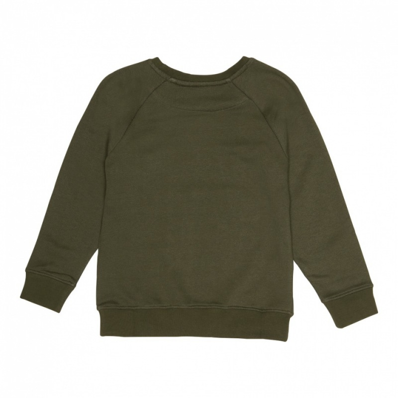Soft Gallery Chaz Sweatshirt, Burnt Olive, Leo Emb.