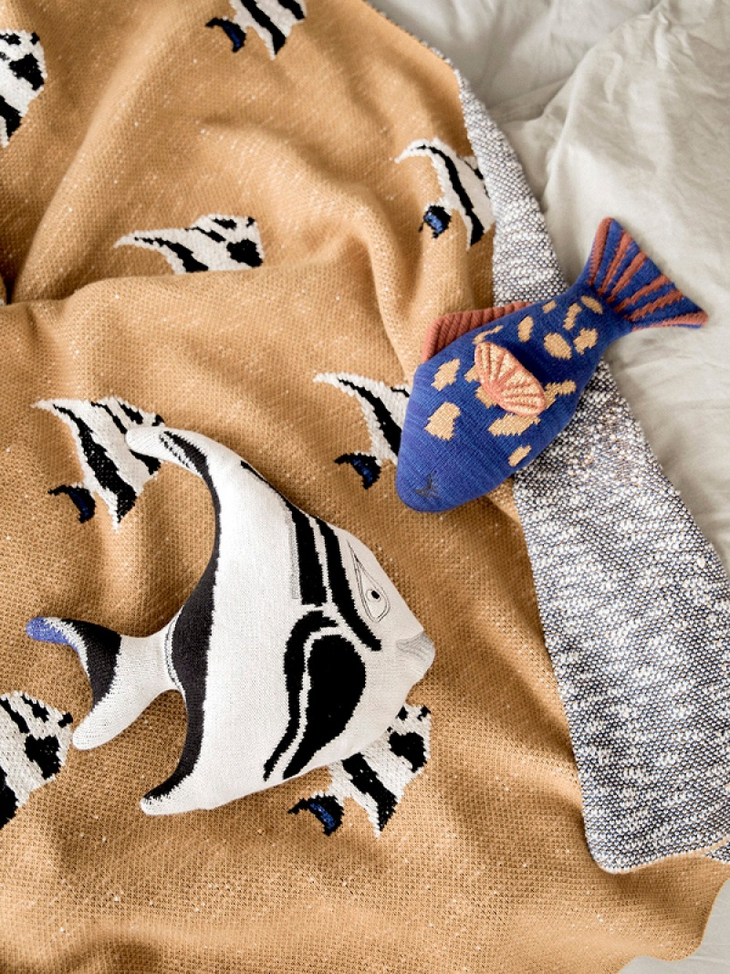 fermLIVING Stripy Fish Blanket