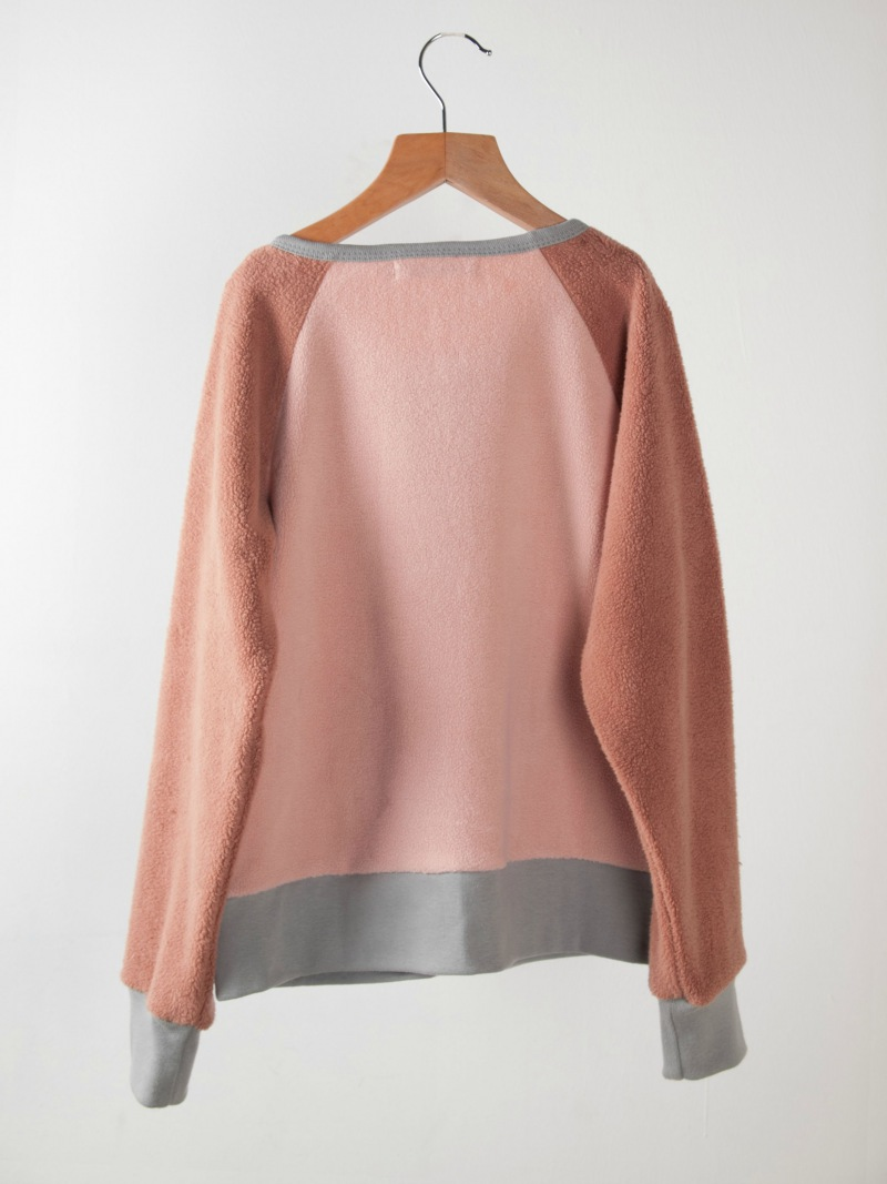 Bobo Choses Sweatshirt zip Sherpa Pink