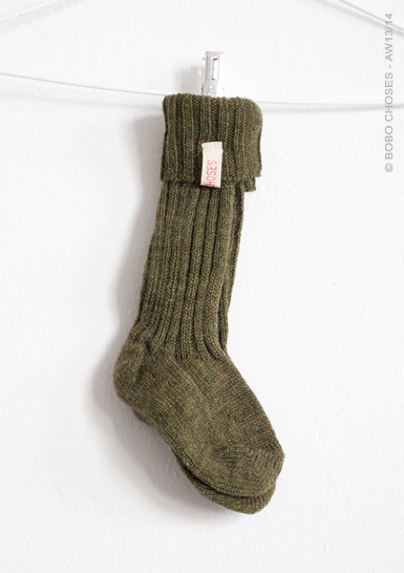 BOBO CHOSES Stricksocken, khaki