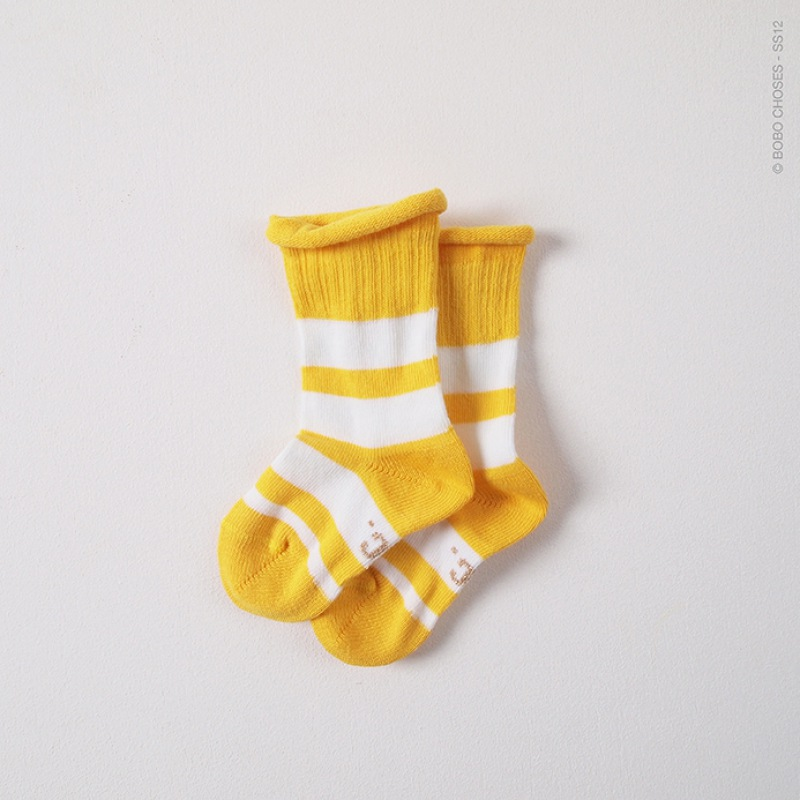 BOBO CHOSES Socks Stripe Yellow