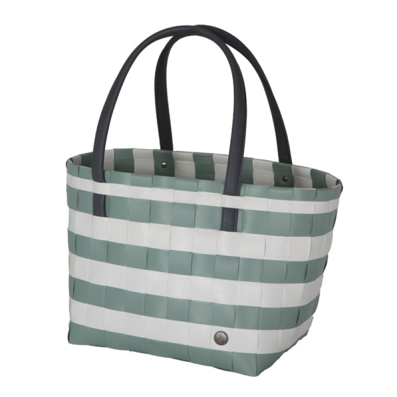 Handed By Shopper color block vintage - greyish green