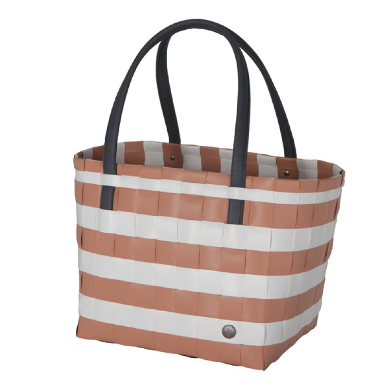 Handed By Shopper color block vintage - copper blush