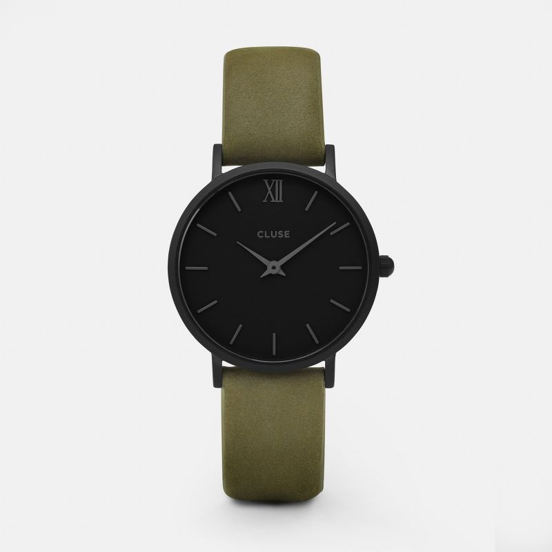 CLUSE watch Minuit Full Black/Olive Green