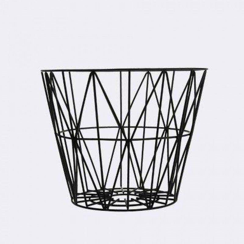 ferm LIVING Wire Basket - Black - Medium