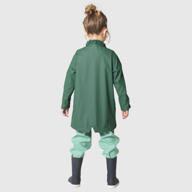 GOSOAKY 4 in 1 Raincoat PIG´S TALE, Trekking Green