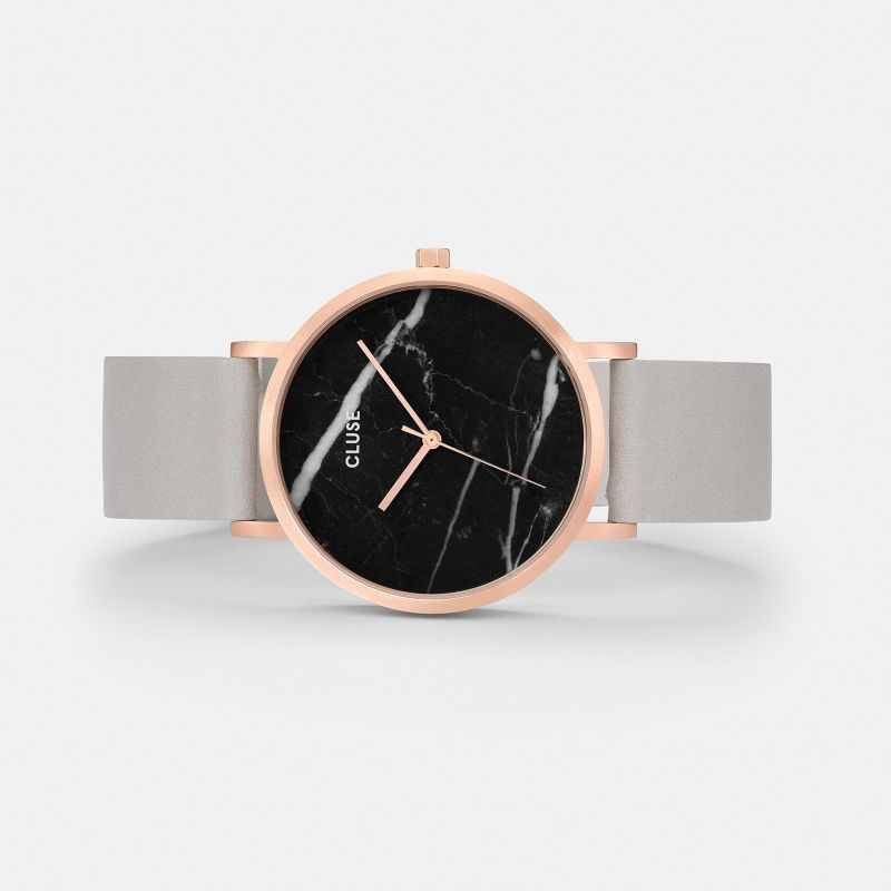 CLUSE watch La Roche Rose Gold Black Marble/Grey