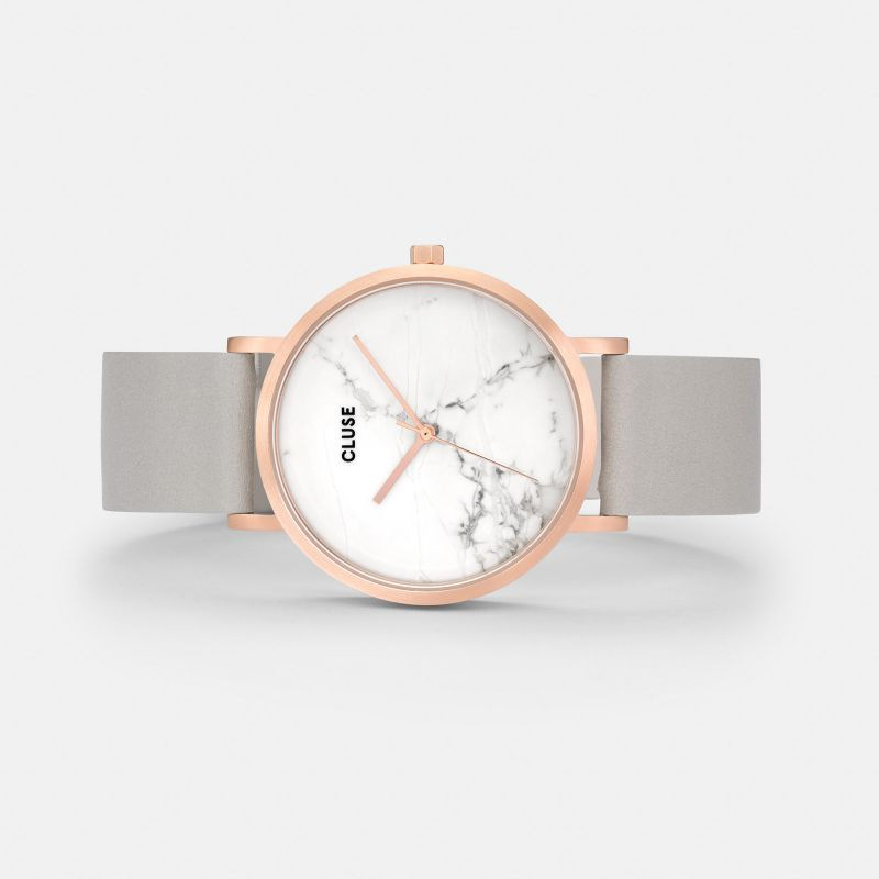 CLUSE watch La Roche Rose Gold White Marble/Grey
