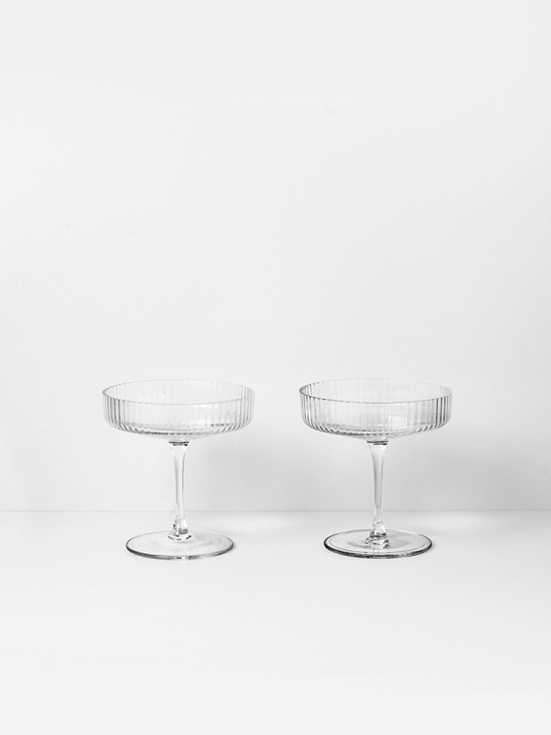 fermLIVING Ripple Champagne Saucer (set of 2)